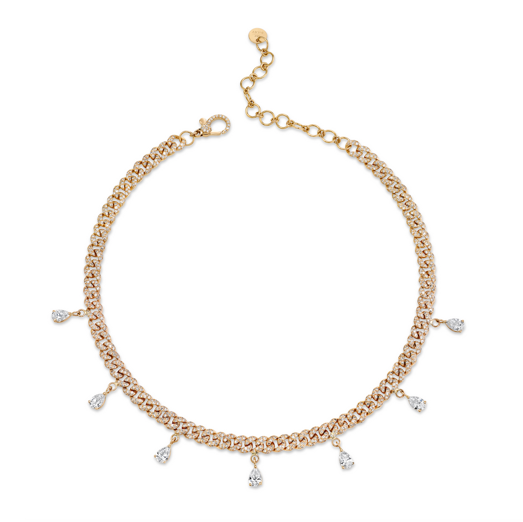PEAR DROP LINK ANKLET