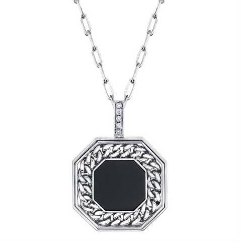 PAVE FLAT LINK NECKLACE
