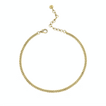 SOLID GOLD BABY LINK NECKLACE