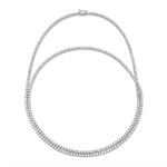 READY TO SHIP DOUBLE WRAP PAVE TENNIS NECKLACE