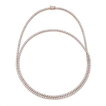 DOUBLE WRAP PAVE TENNIS NECKLACE