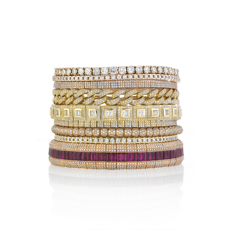 DIAMOND BAGUETTE SQUARE STRETCH BRACELET