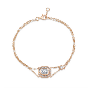 SINGLE PAVE HALO ILLUSION BRACELET