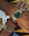 CUSTOM MALACHITE VINTAGE WATCH
