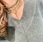 DOT DASH EMERALD PEAR CHOKER