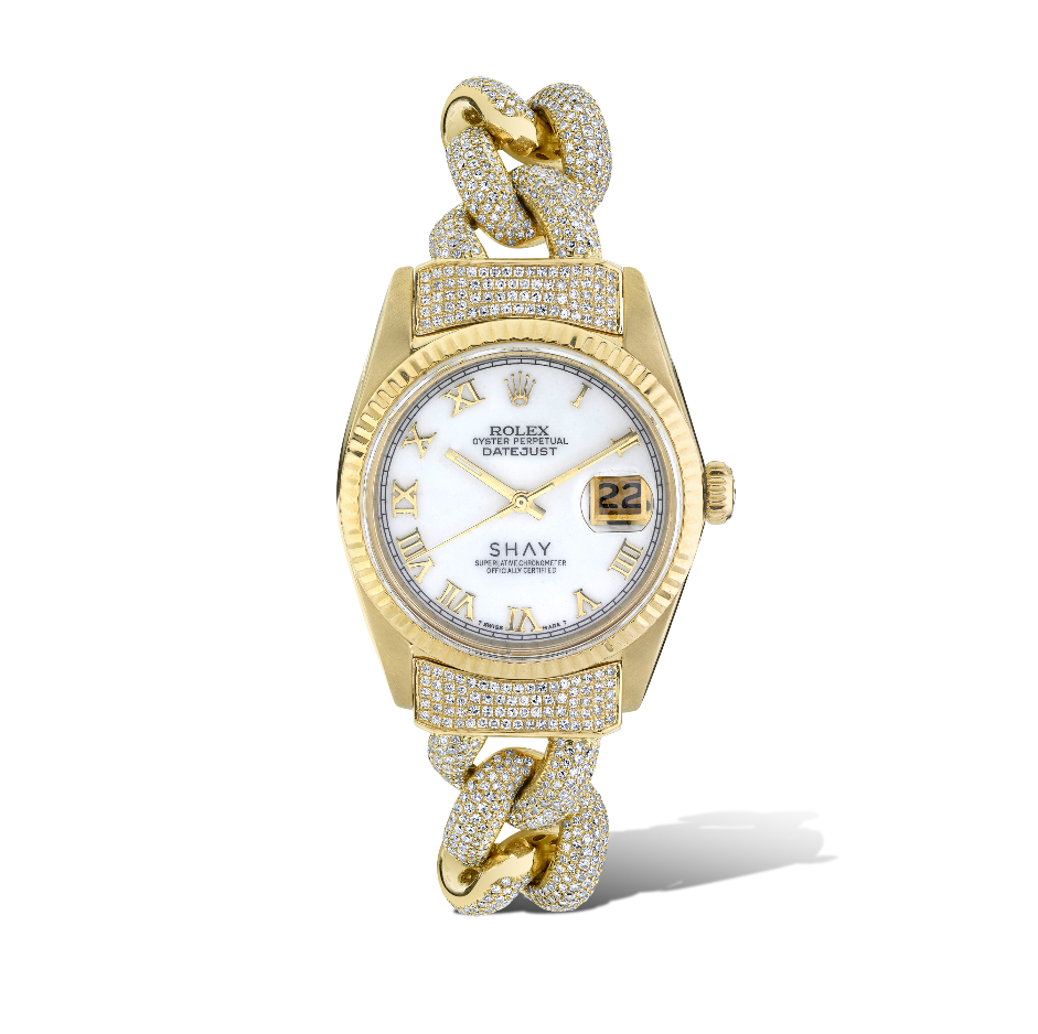 CUSTOM WHITE MOTHER OF PEARL WATCH