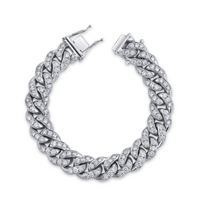 READY TO SHIP DIAMOND MEGA LINK BRACELET, 18mm