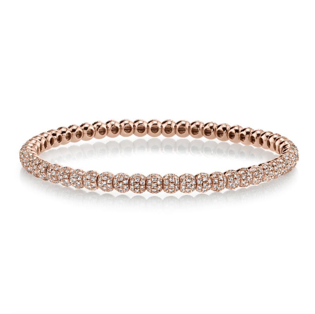 DIAMOND PAVE BALL STRETCH BRACELET