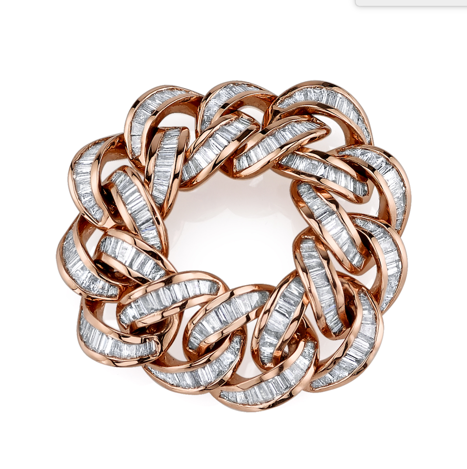 DIAMOND BAGUETTE ESSENTIAL LINK RING