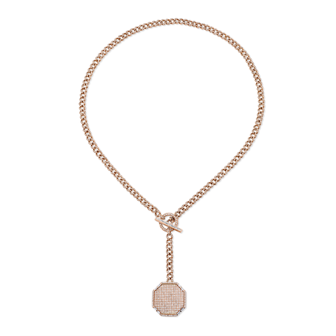 DIAMOND INFINITY STATION 'Y' NECKLACE