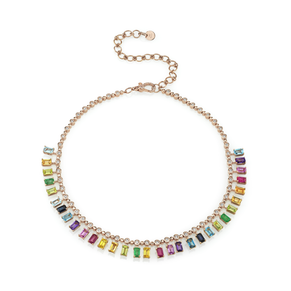 RAINBOW DOT-DASH  CHOKER
