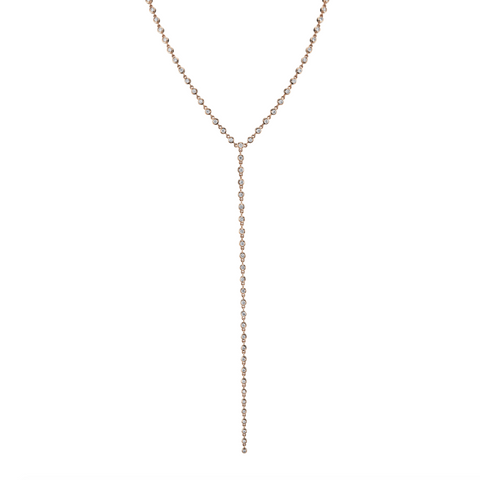 BEZEL & BAGUETTE DOT DASH NECKLACE