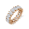 9 DIAMONDS CRESCENT MOON RING