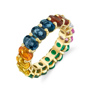 RAINBOW OVAL ETERNITY RING