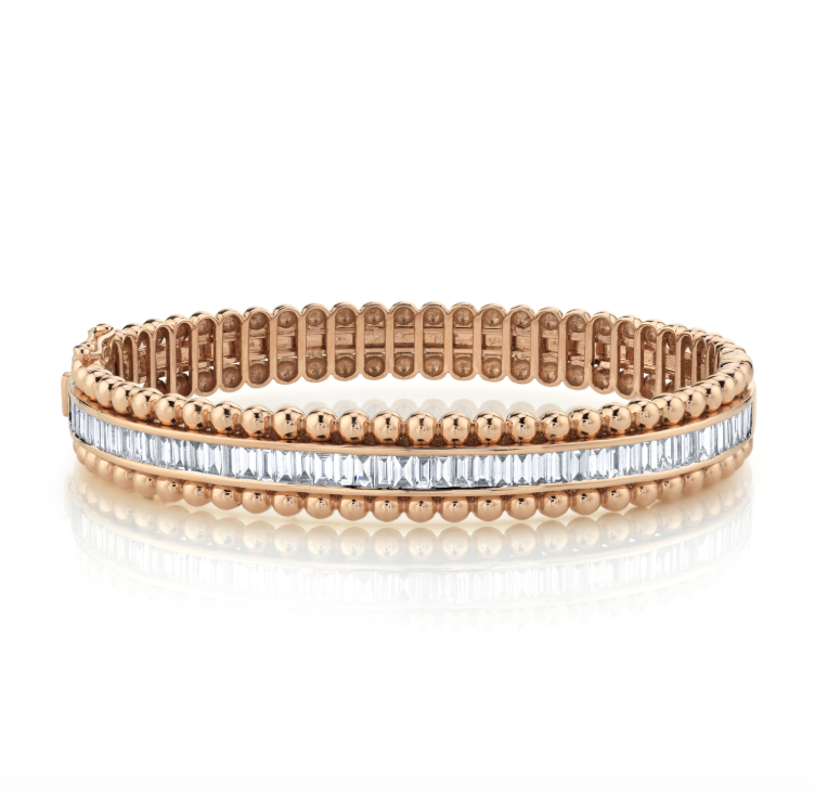 EDGED BALL BAGUETTE SCALE BANGLE