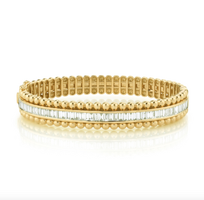 EDEGED BALL BAGUETTE SCALE BANGLE