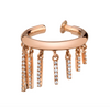 SHORT PAVE FRINGE EAR CUFF