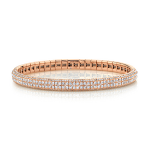 DOUBLE ROW PAVE STRETCH BRACELET