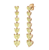 7 HEART DROP YELLOW DIAMOND EARRINGS