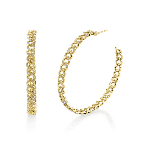 DOT-DASH DIAMOND HOOPS