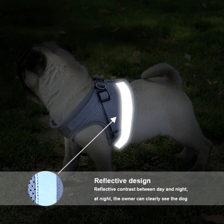 Reflective Dog Harness Reflector Vest 444x444