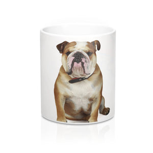 Bulldog White Ceramic Mug 11oz - For My Doggo