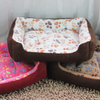 Cushioned Paw Print Dog Bed