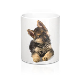 German Shepherd White Ceramic Mug 11oz - For My Doggo