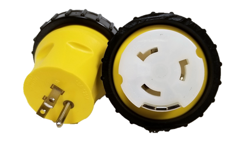 High Tide Marine Standard 15 amp Male to locking 50 amp Female with seal ring stubby adapter  (14962)
