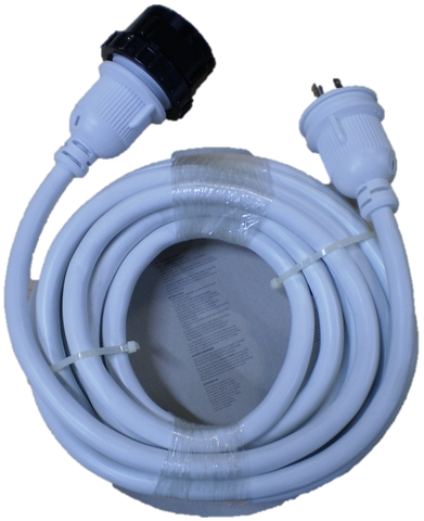 High Tide Marine 30 Amp - 25 ft White Marine Shore Power Extension Cord (7724W)