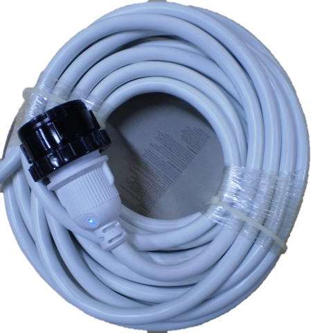 Marine Shore Power Extension Cord WHITE 30 amp, 50 Foot  (7725W)