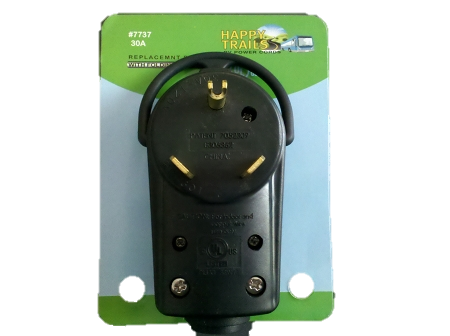 Happy Trails RV 30 amp Replacement Male Connector (7737)