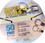 Happy Trails RV 50 amp - 50 ft RV Extension Cord with Pull Handles and Lighted Ends (8262T)