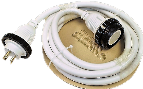 30 Amp - 15 ft White Marine Shore Power Extension Cord (8517W)
