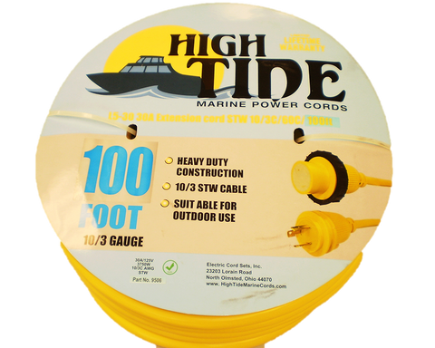 30 Amp - 100 ft Marine Shore Power Extension Cord (9506)