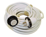 High Tide Marine 30 Amp - 100 ft White Marine Shore Power Extension Cord (9507W)