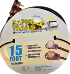Happy Trails RV 30 Amp - 15 Foot RV Extension Cord With Pull Handles and Lighted Ends (9510T)