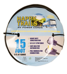 Happy Trails RV 50 Amp - 15 ft RV Extension Cord with Pull Handles and Lighted End (9511T)