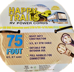 Happy Trails RV 50 Amp - 75 ft RV Extension Cord with Pull Handles and Lighted End (9513T)