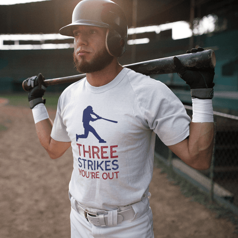 Three Strikes You're Out - Men's T-Shirt