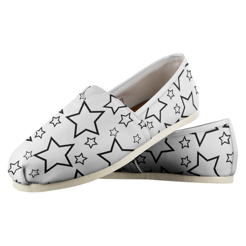 Black Stars - Women's Casual Shoe - cormosaic.shop