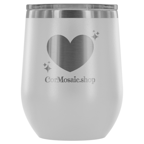 CorMosaic.shop Heart - Wine Tumbler - cormosaic.shop