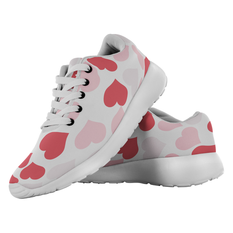 Valentine Hearts - Running Shoes - cormosaic.shop
