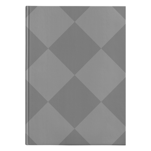 Grey Diamonds - Journal Hardcover - cormosaic.shop