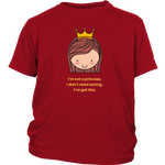 Not A Princess - Youth T-Shirt - cormosaic.shop