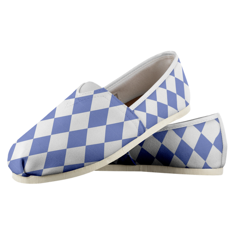Blue Diamonds - Women's Casual Shoe - cormosaic.shop