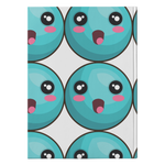 Turquoise Emoticon - Journal Hardcover - cormosaic.shop