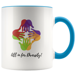 All in for Diversity - Mug - cormosaic.shop