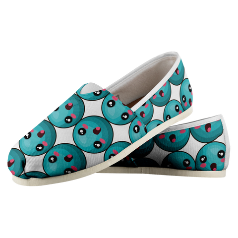 Turquoise Emoticon - Women's Casual Shoe - cormosaic.shop