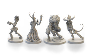 Resin Gaming Minis - Set of 4